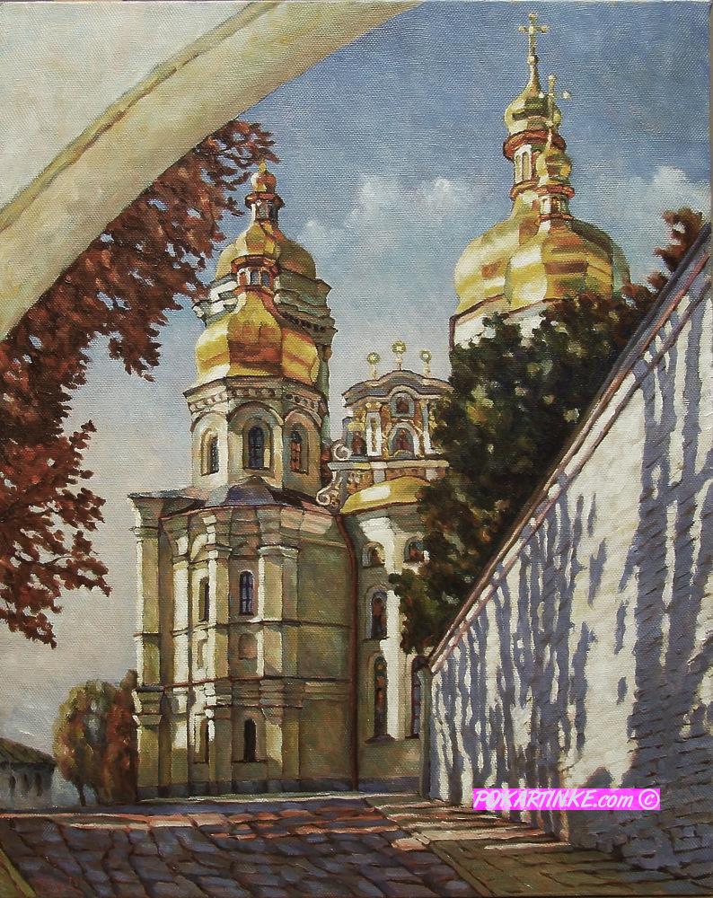 Киево-Печерская Лавра осенью - картинная галерея PoKartinke.com