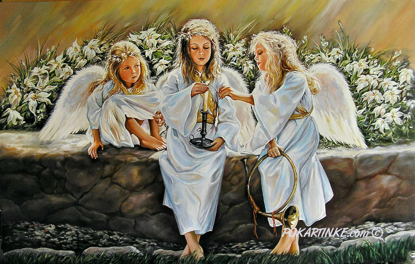 Три ангела - картинная галерея PoKartinke.com