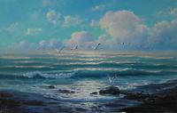 Чайки у моря