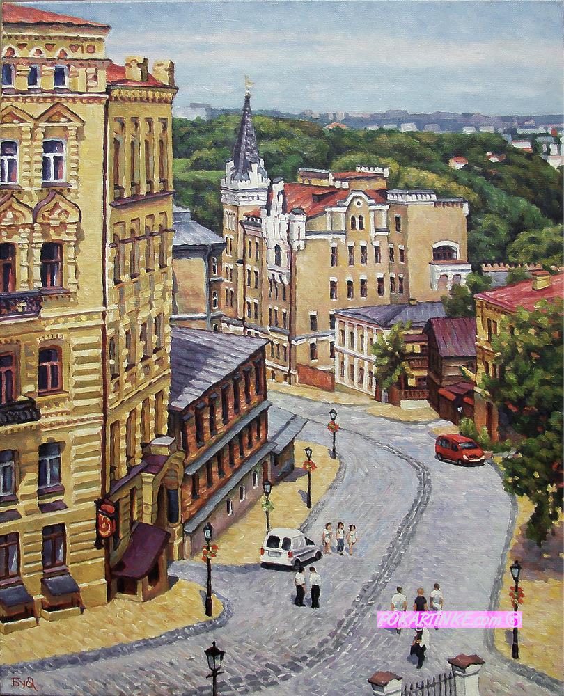Вид Андреевского спуска - картинная галерея PoKartinke.com