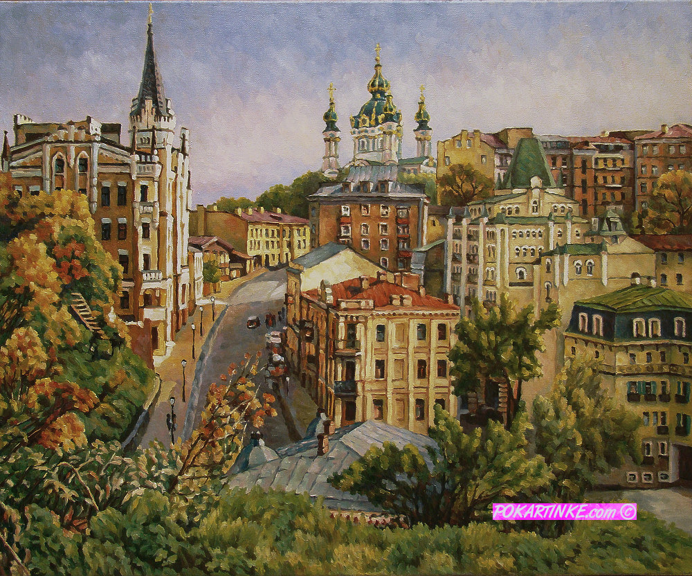 Вид на Андреевский спуск - картинная галерея PoKartinke.com