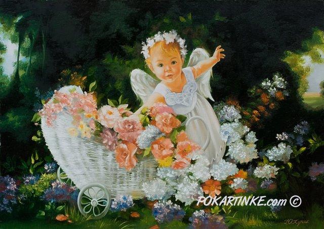 Ангелок с коляской - картинная галерея PoKartinke.com