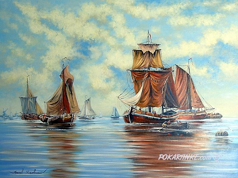 Английская марина - картинная галерея PoKartinke.com