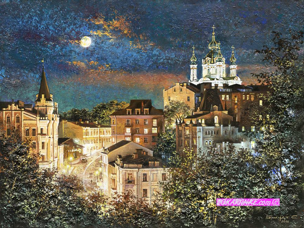 Панорама Андреевского спуска - картинная галерея PoKartinke.com