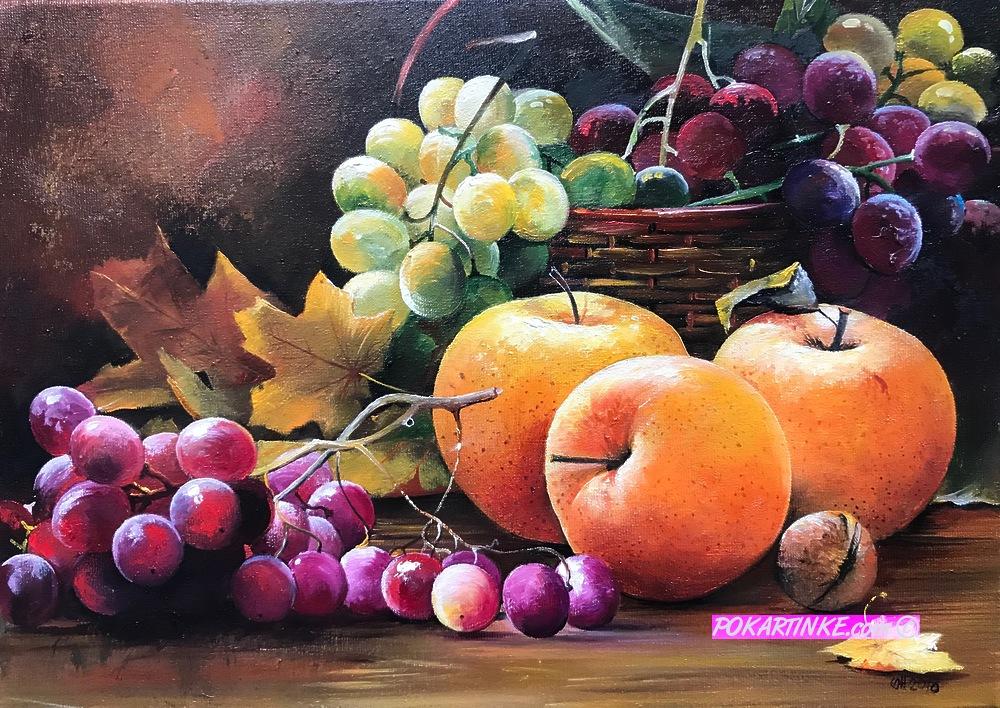 Яблоки и виноград - картинная галерея PoKartinke.com