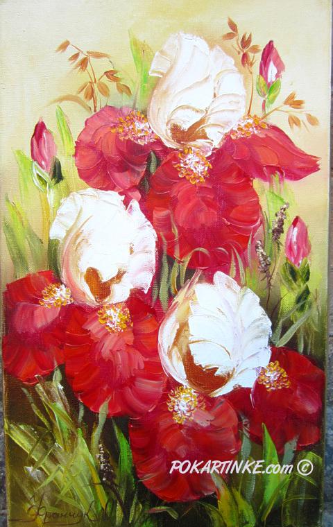 Бардовые ирисы - картинная галерея PoKartinke.com