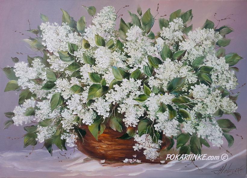 Белая сирень - картинная галерея PoKartinke.com