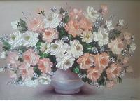 Бело-кремовые розы
