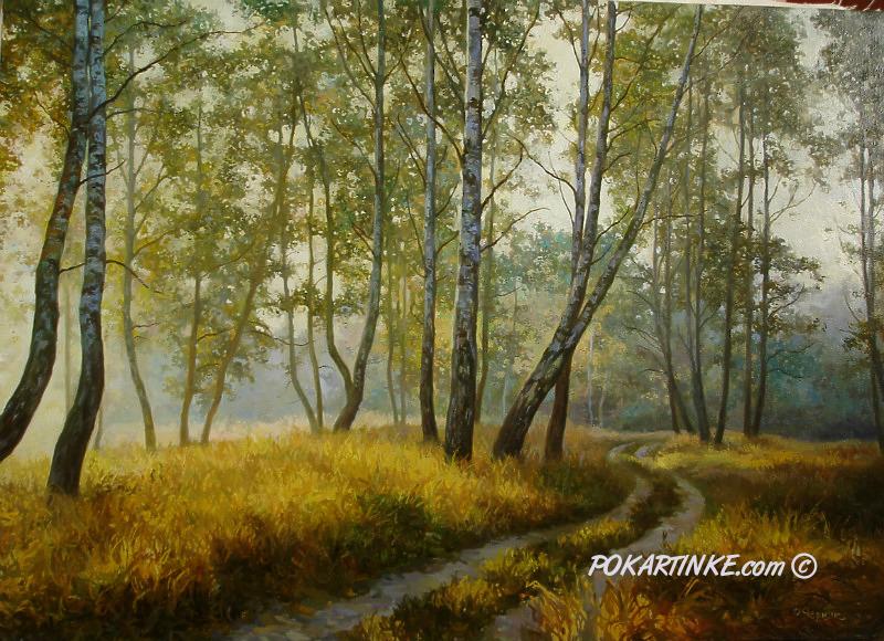 Березовый лес - картинная галерея PoKartinke.com