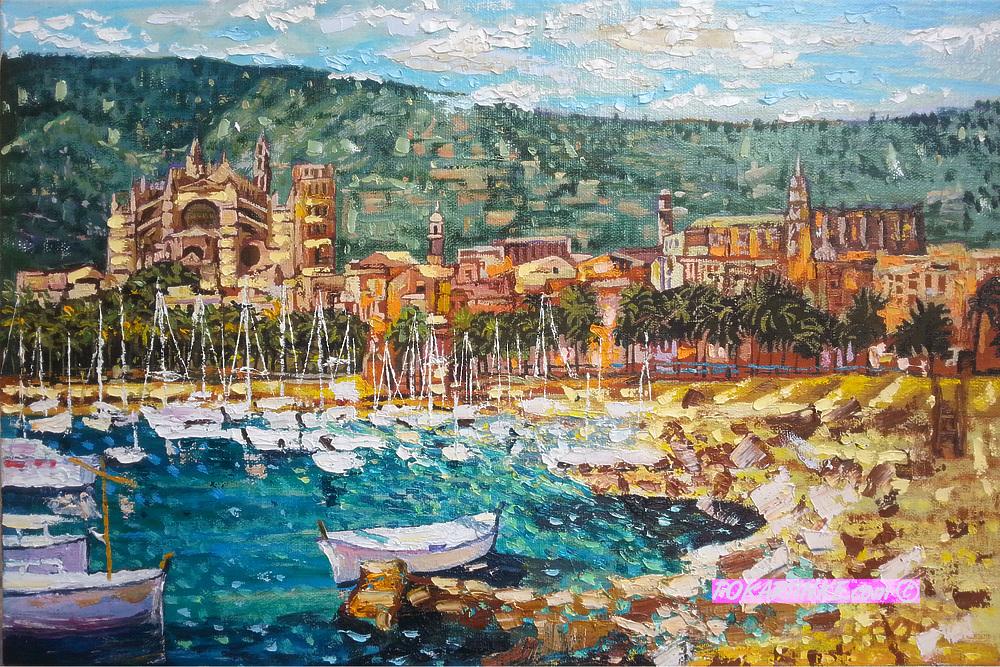 Яхты у побережья - картинная галерея PoKartinke.com