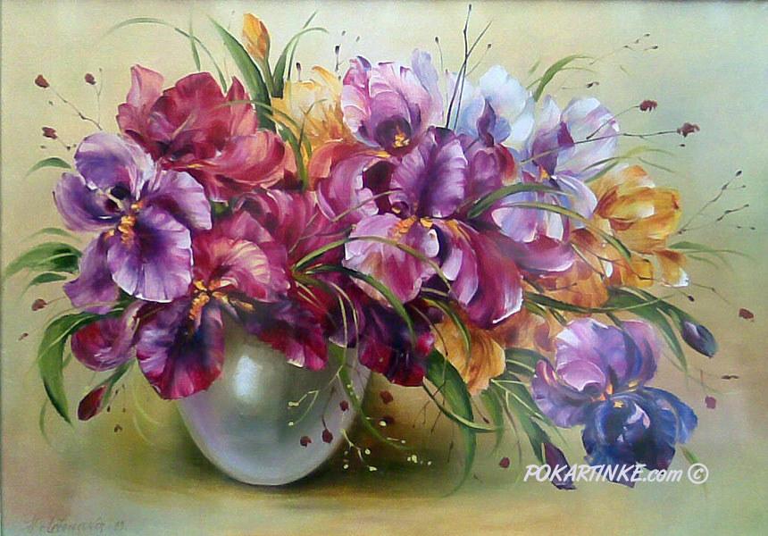Букет ирисов - картинная галерея PoKartinke.com