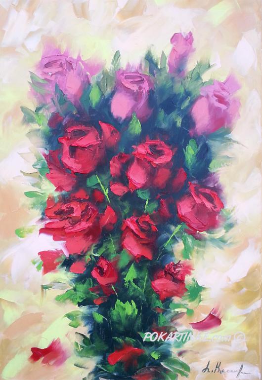 Букет красных роз - картинная галерея PoKartinke.com