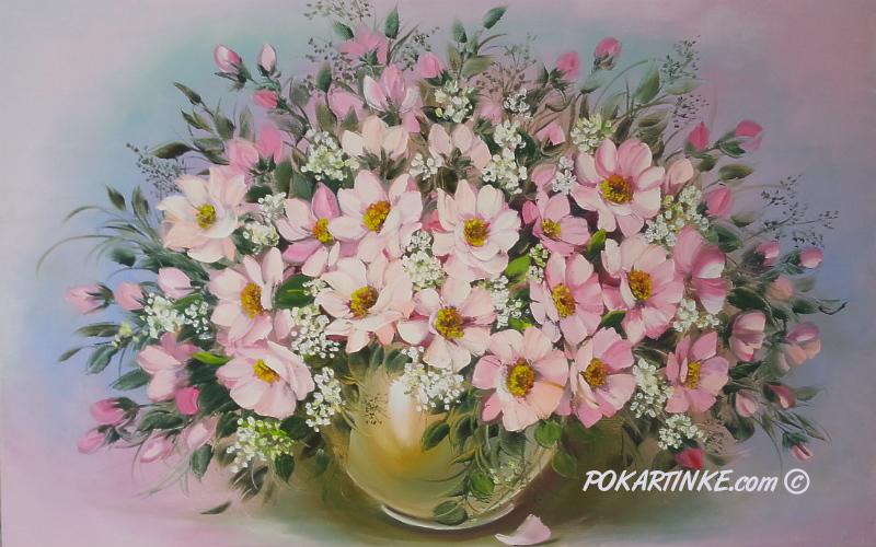 Букет розовых цветов - картинная галерея PoKartinke.com