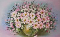 Букет розовых цветов