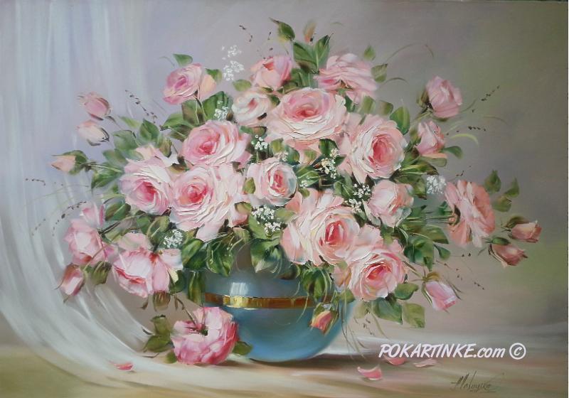 Букет розовых роз - картинная галерея PoKartinke.com