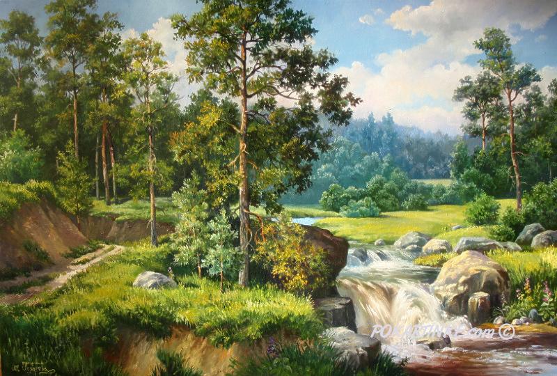 Бурный поток - картинная галерея PoKartinke.com
