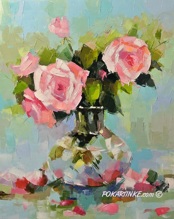 Чайные  розочки - картинная галерея PoKartinke.com