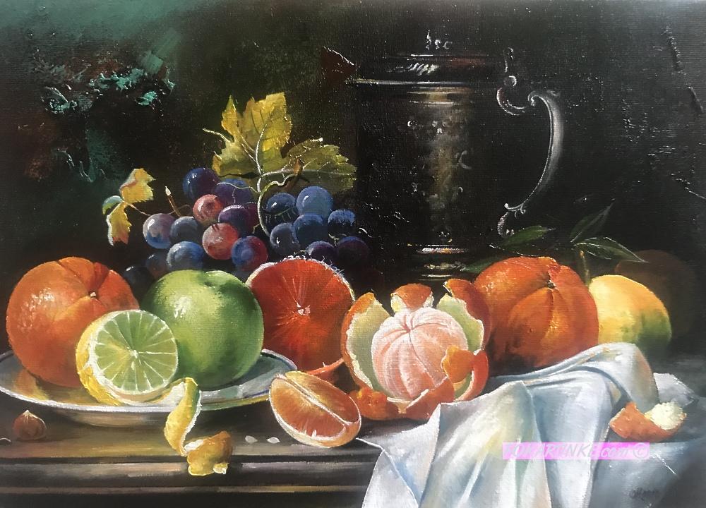 Натюрморт с цитрусовыми - картинная галерея PoKartinke.com