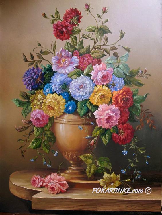 Цветы в вазе - картинная галерея PoKartinke.com