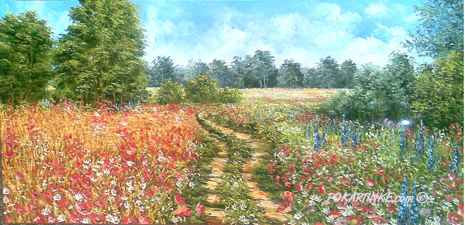 Цветочная дорога - картинная галерея PoKartinke.com