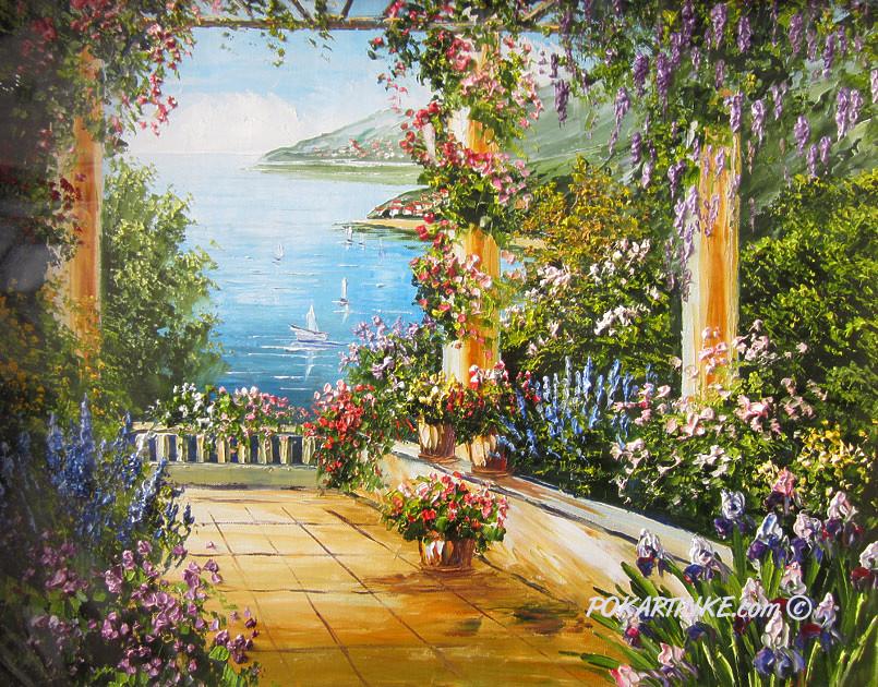 Цветочная веранда - картинная галерея PoKartinke.com