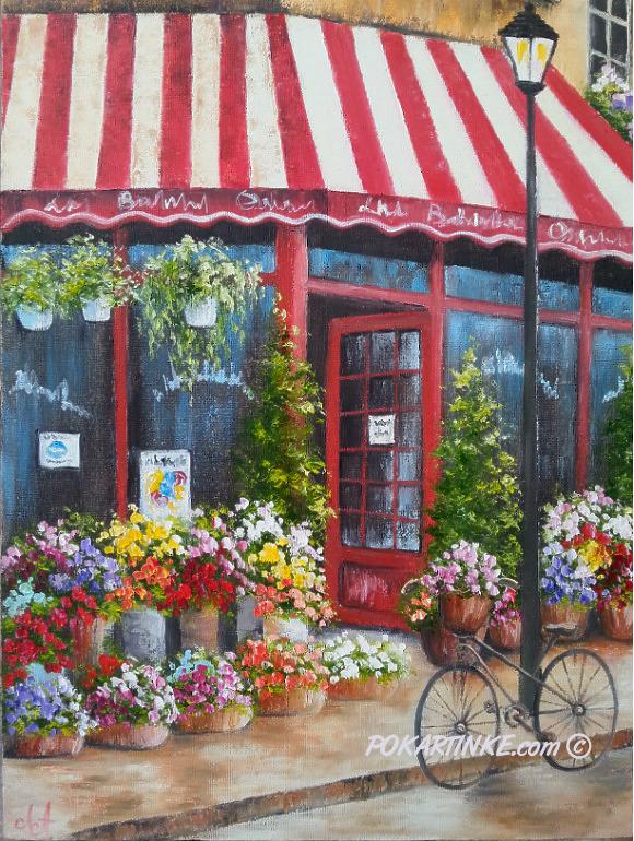 Цветочный магазинчик - картинная галерея PoKartinke.com