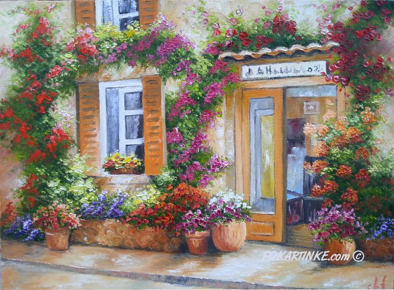 Цветочное крыльцо - картинная галерея PoKartinke.com