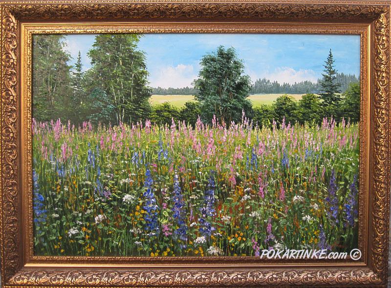 Цветущие луга - картинная галерея PoKartinke.com