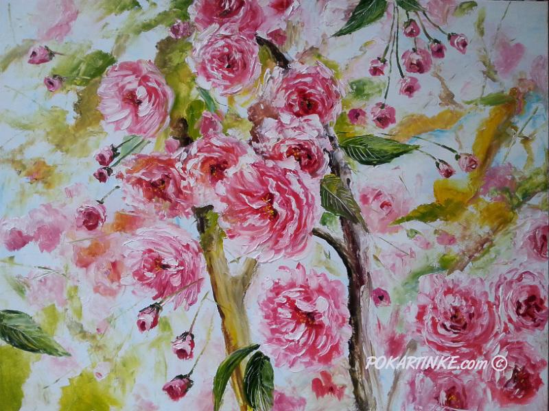 Цветение сакуры - картинная галерея PoKartinke.com