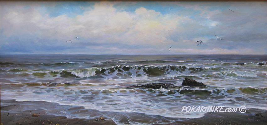 На диком пляже - картинная галерея PoKartinke.com