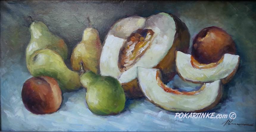 Дыня и груши - картинная галерея PoKartinke.com