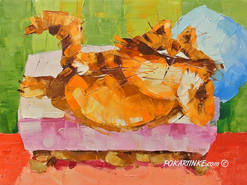 Диваноспальный кот - картинная галерея PoKartinke.com