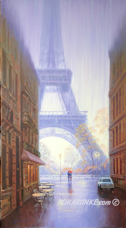 Дождь в Париже - картинная галерея PoKartinke.com