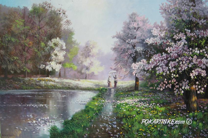 Дождь весной - картинная галерея PoKartinke.com
