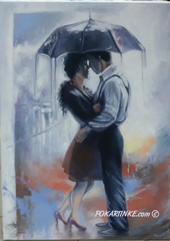 Дождь. Встреча. - картинная галерея PoKartinke.com