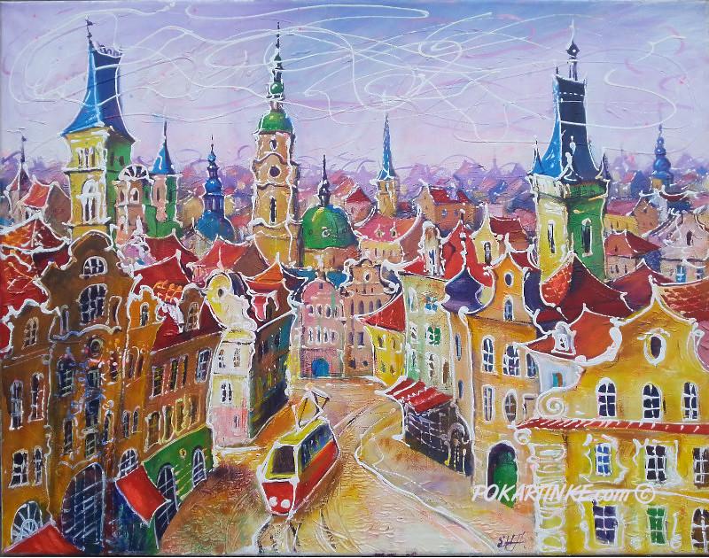 Европейский городок - картинная галерея PoKartinke.com