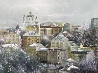 Андреевский спуск зимой