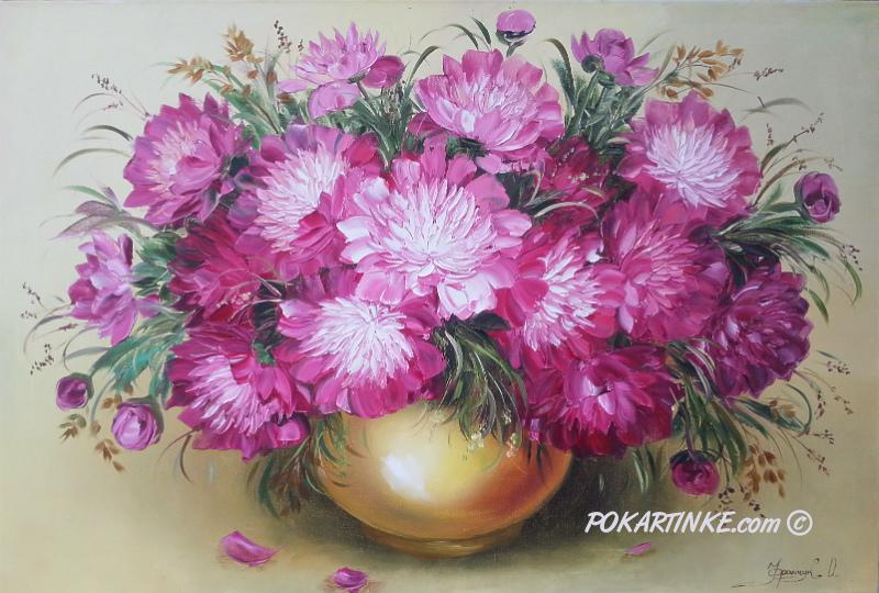 Фиолетовые пионы - картинная галерея PoKartinke.com