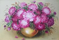 Фиолетовые пионы