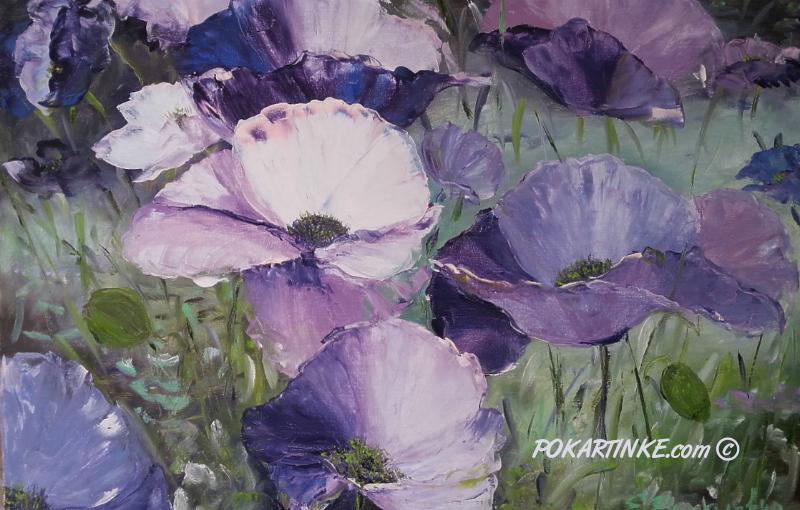 Фиолетовые маки - картинная галерея PoKartinke.com