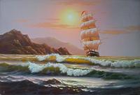 Фрегат на море