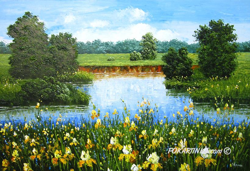 Желтые ирисы - картинная галерея PoKartinke.com