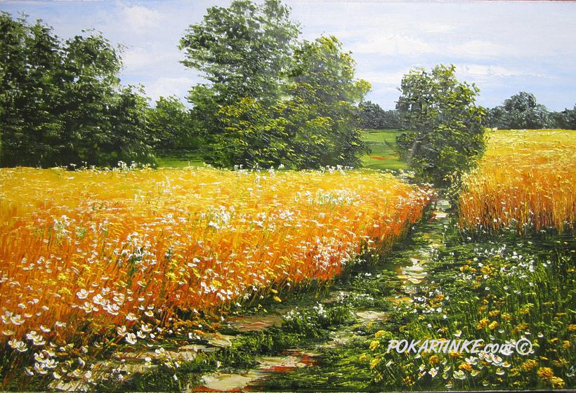 Желтое поле - картинная галерея PoKartinke.com