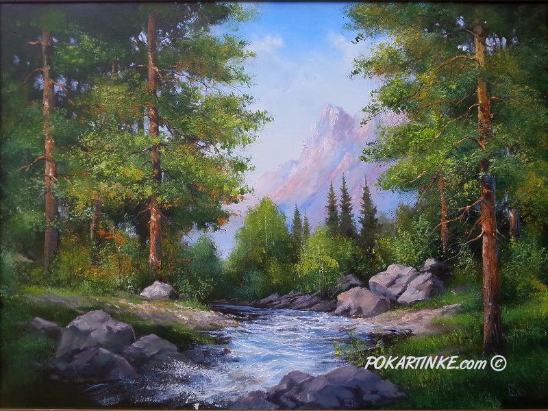 Горная река - картинная галерея PoKartinke.com