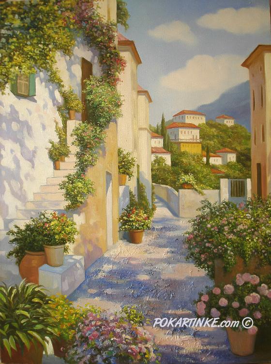 Горный городок - картинная галерея PoKartinke.com