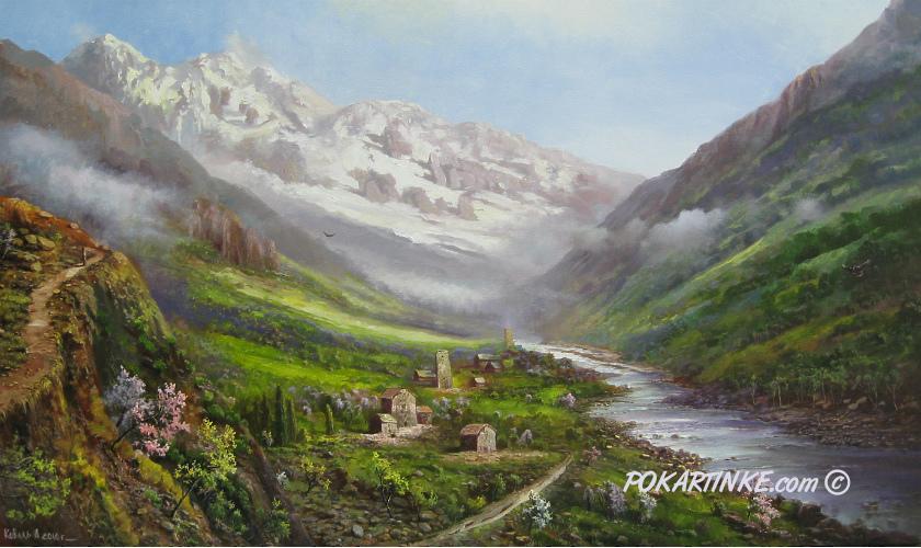 Горное ущелье - картинная галерея PoKartinke.com