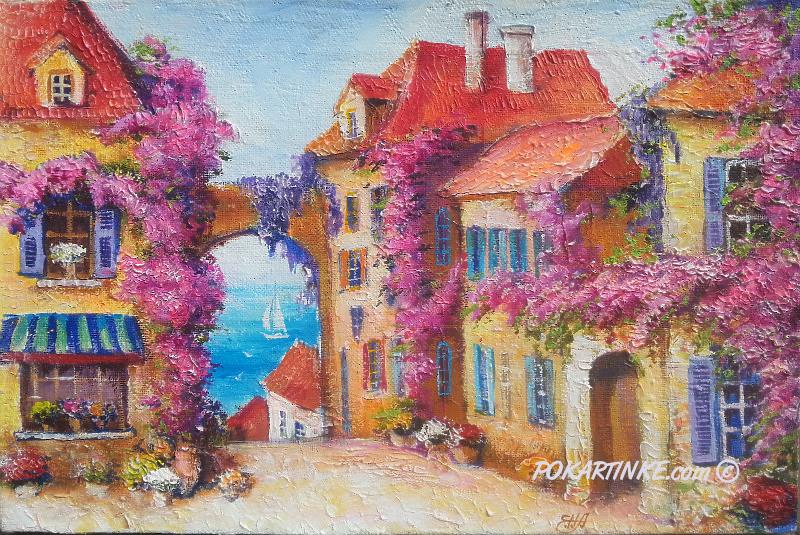 Городок у моря - картинная галерея PoKartinke.com