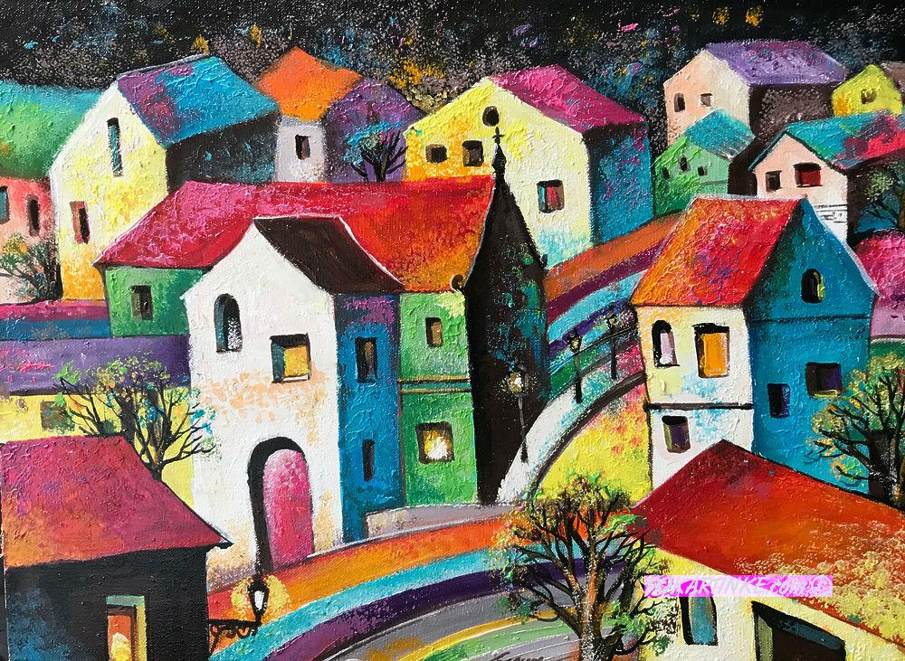 Цветной городок - картинная галерея PoKartinke.com