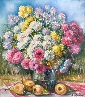 Хризантемы и груши