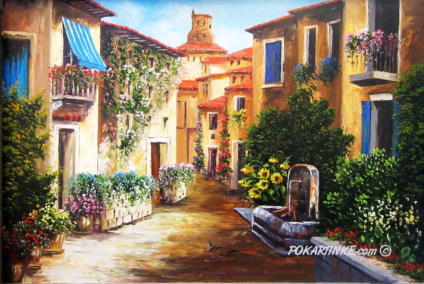 Итальянский дворик - картинная галерея PoKartinke.com